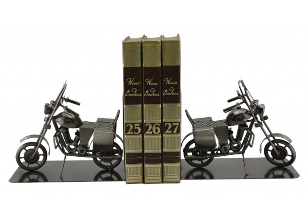 Motorcycle Book Ends (Set of 2) by Wine Bodies