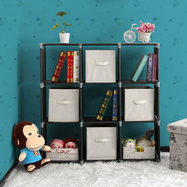 Weidler Multifunctional 9 Compartments Storage Step Bookcase By Rebrilliant