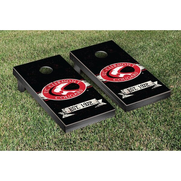 USCAA Cincinnati Clermont Cougars Banner Vintage Version Cornhole Game Set by Victory Tailgate