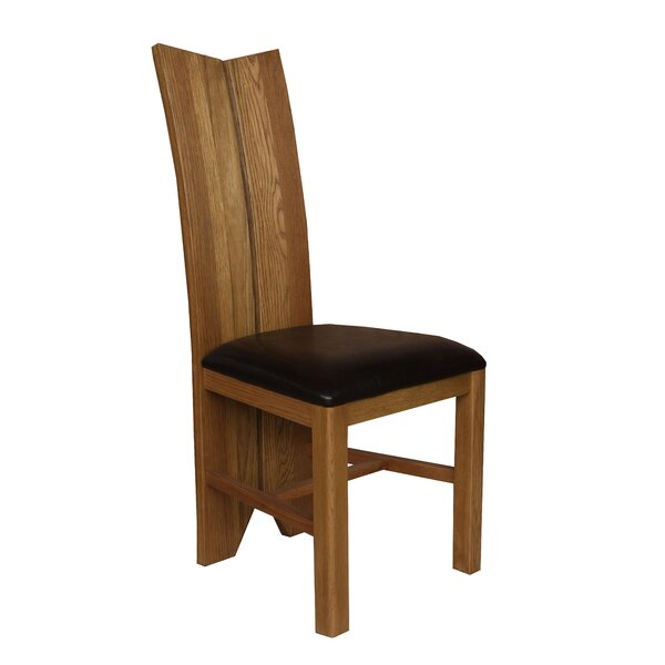 Alicia Solid Wood Upholstered Dining Chair (Set of 2) by Foundry Select