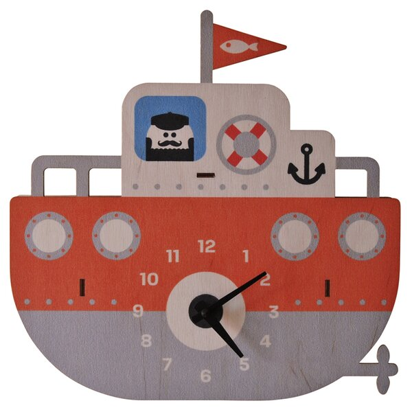 Tugboat 3D Wall Clock by Modern Moose