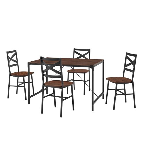 Armando Dining Set with 4 Chairs Brayden Studio Colour: