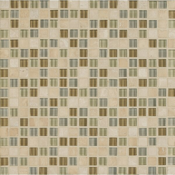Carlisle 12 x 12 Stone Mosaic Blend Tile in Isle by Grayson Martin