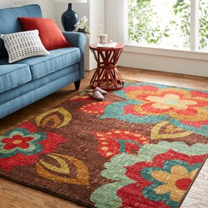 Empyrean Brown/Red Area Rug