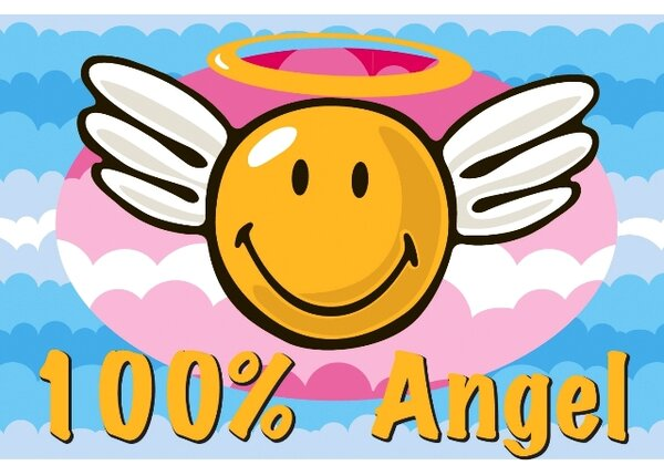 Smiley World Smiley Angel Area Rug by Fun Rugs