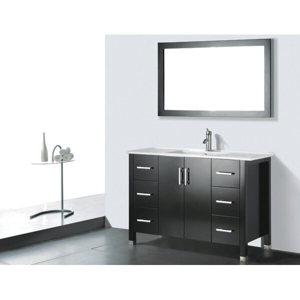 Vidya 48 Single Wood Bathroom Vanity Set with Mirror by Latitude Run
