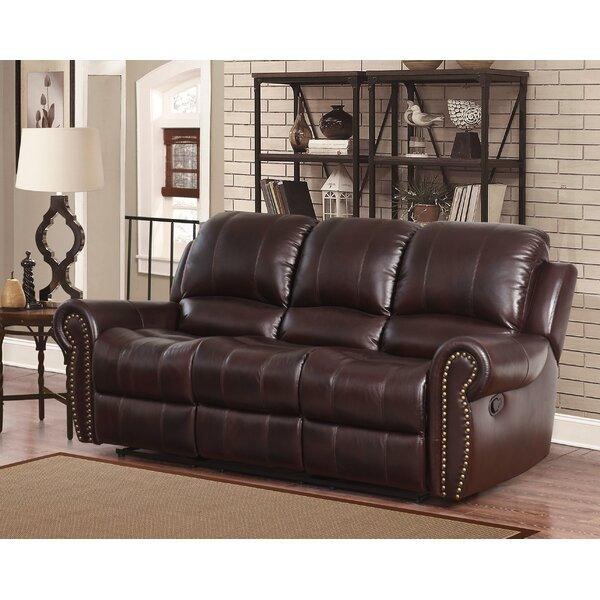 New High-quality Barnsdale Leather Reclining Sofa by Darby Home Co by Darby Home Co