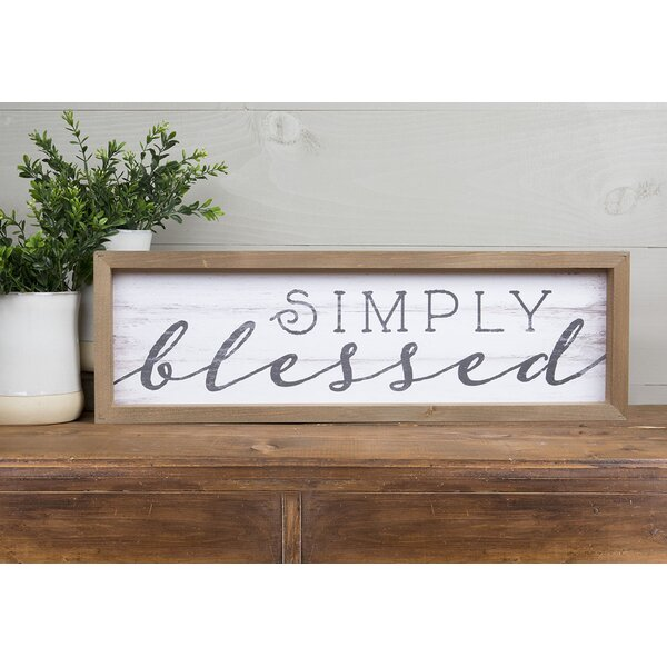 Simply Blessed Wall Décor by Gracie Oaks