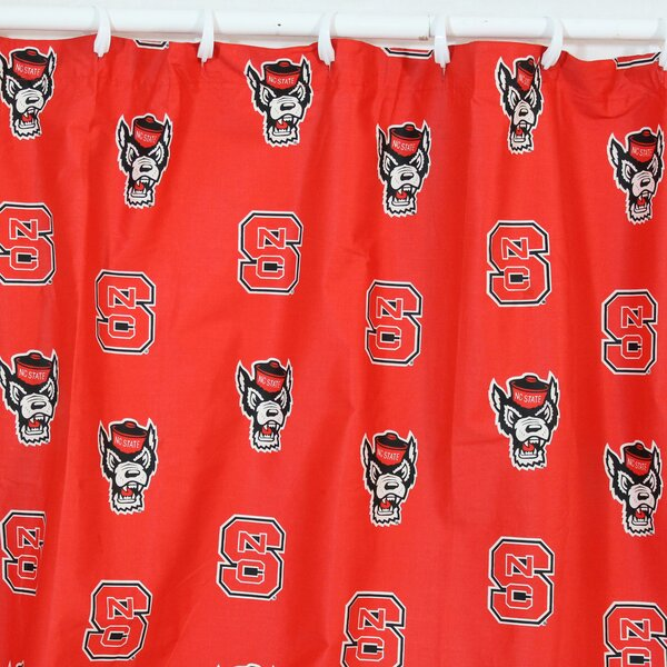 NCAA North Carolina State Cotton Printed Shower Curtain by College Covers