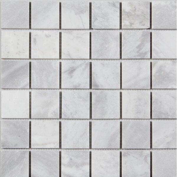 2 x 2 Mosaic Tile in Argento Dolomite by Ephesus Stones