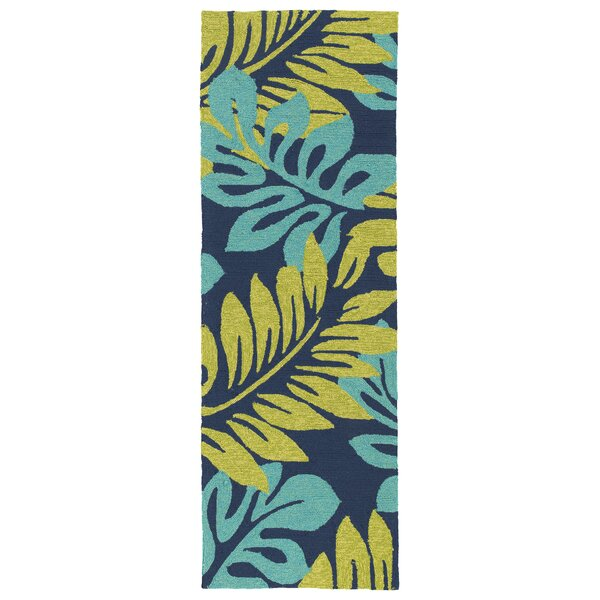 Navarre Hand-Tufted Green/Blue Indoor/Outdoor Area Rug by Bay Isle Home
