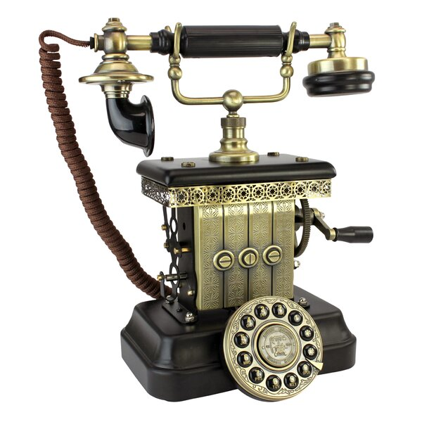 1923 Reproduction Victorian Magneto Telephone by Design Toscano