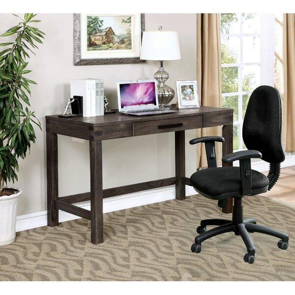 Frailey Rustic Solid Wood Writing Desk
