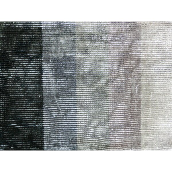 Shiny Hand-Loomed Gray Area Rug by Linie Design