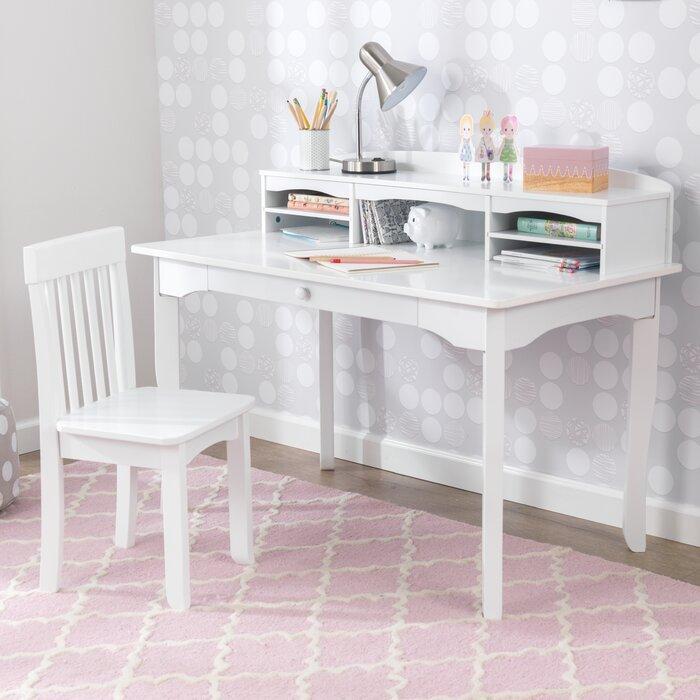 Sensational Avalon Kids Study Desk And Chair Set With Kids Hutch Cjindustries Chair Design For Home Cjindustriesco