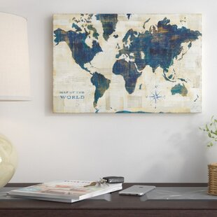 World map picture wayfair world map collage graphic art on wrapped canvas gumiabroncs Choice Image