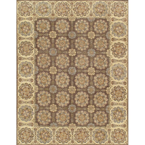 Ferehan Hand Knotted Wool Brown/Beige Area Rug by Pasargad
