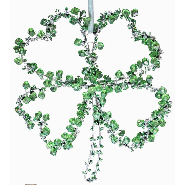 Hand Beaded 4 Leaf Clover Ornament by Golden Hill Studio