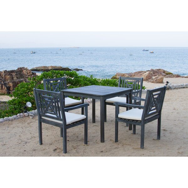 Del Mar 5 Piece Dining Set with Cushion by Safavieh