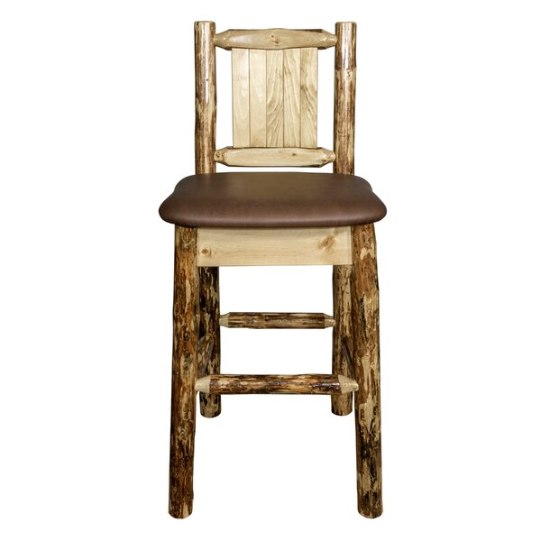 Southborough Rustic Counter Height 24 Bar Stool by Loon Peak