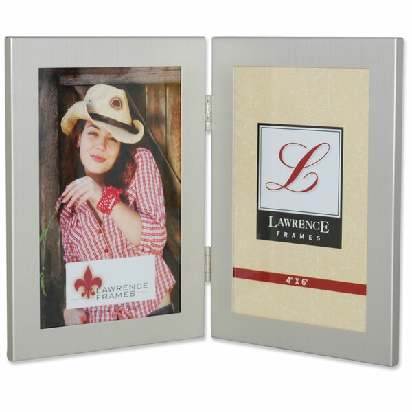Hinged Double Picture Frame by Lawrence Frames