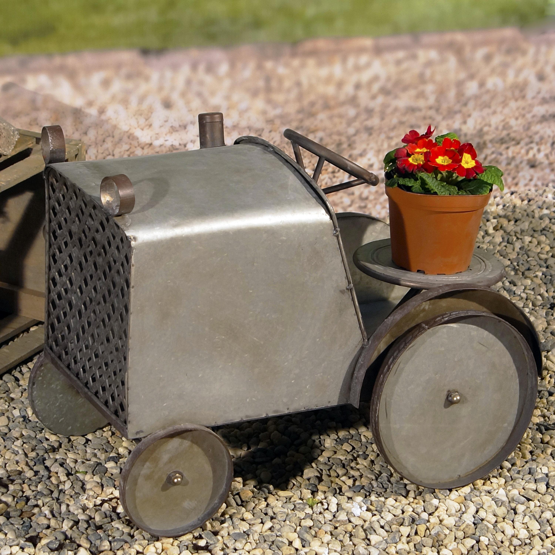 American Mercantile Ogden Big Wheeled Garden Tractor Metal Plant Stand |  Wayfair