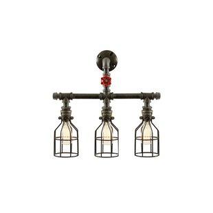 gas pipe lighting steel pipe pipe 3light vanity light gas wayfair