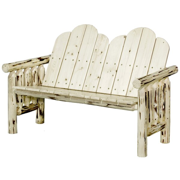 Hamza Deck Wooden Garden Bench by Darby Home Co Darby Home Co