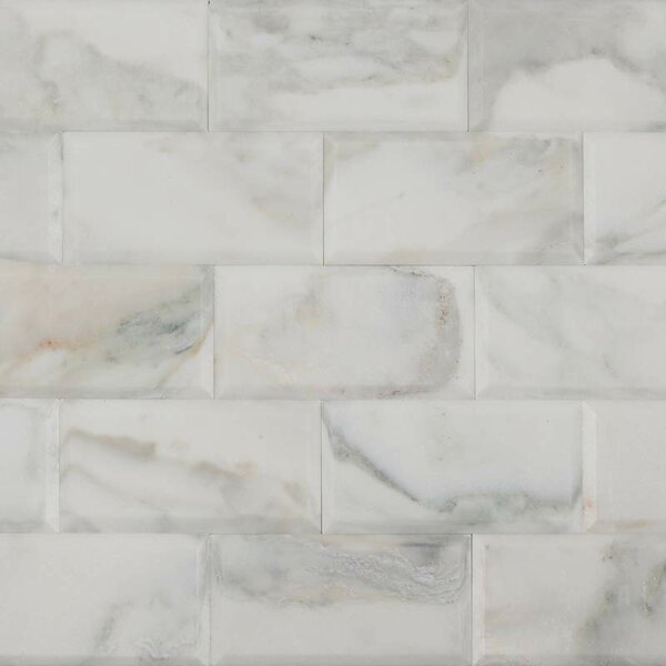 3 x 6 Marble Mosaic Tile in Calacatta by Ephesus Stones