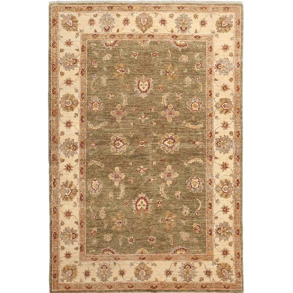 One-of-a-Kind Oushak Hand-Knotted Green Area Rug by Darya Rugs
