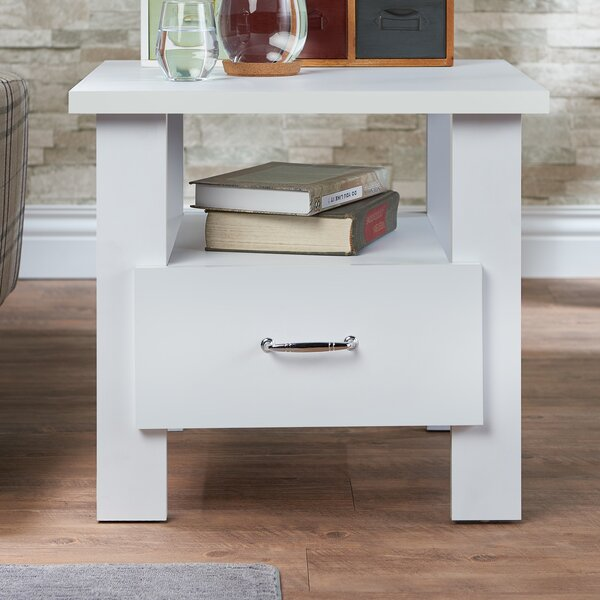 Amira 1 Drawer Nightstand by Rosecliff Heights