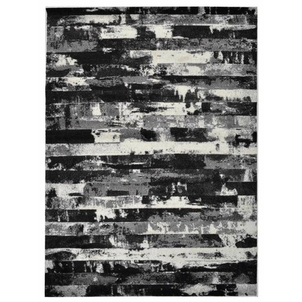 Haveman Silver/Black Area Rug by Orren Ellis