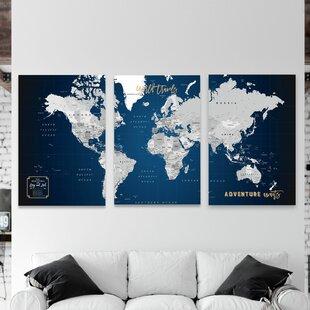 Giant Push Pin 3 Piece World Map Set on plastic world map, modeling clay world map, cork board world map, penguin world map, paper world map, bulletin board with world map, key world map, clip world map, framed world map, staples world map, pen world map,