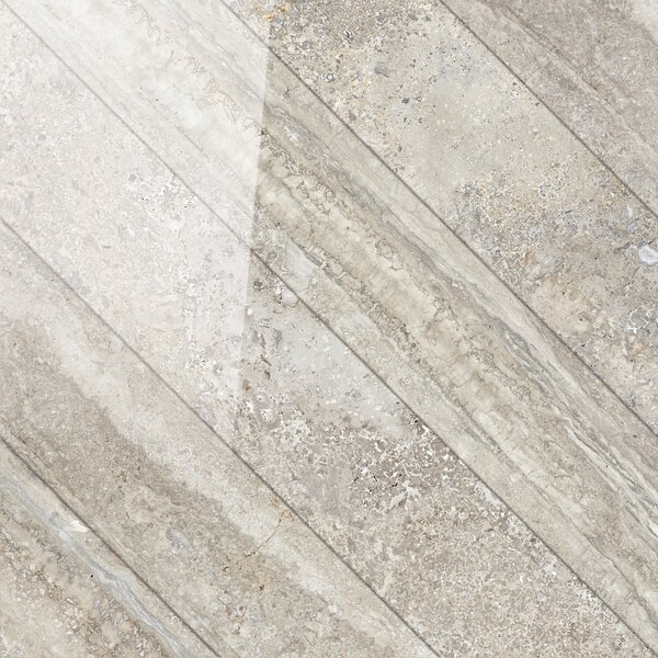 Vstone 19 x 19 Porcelain Field Tile in Nut Cross Semi Polished by Tesoro