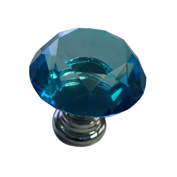 Glass Kitchen Cupboard Cabinet Door Drawer Crystal Knob Multipack (Set of 2) by Beauty Acrylic