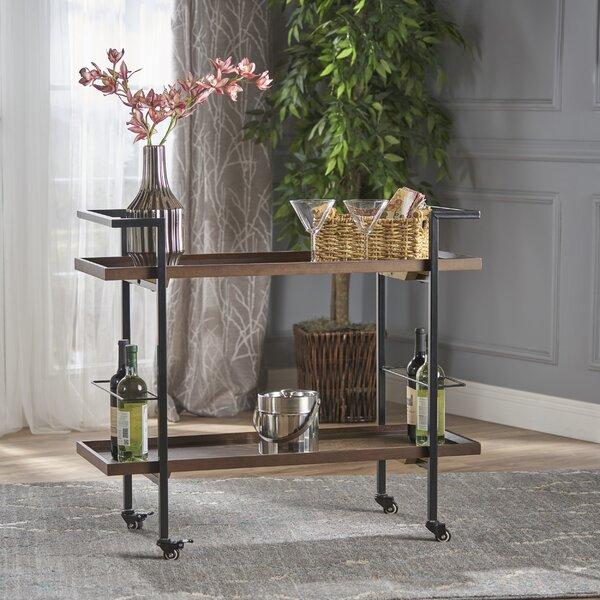 Drucilla Wooden Bar Cart by Williston Forge