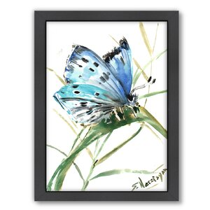 'Butterfly 3' Framed Painting Print by East Urban Home