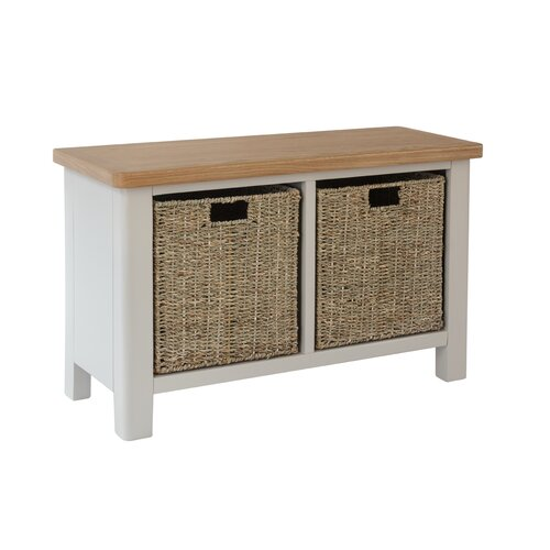 Candi Wood Storage Bench August Grove Colour: Truffle