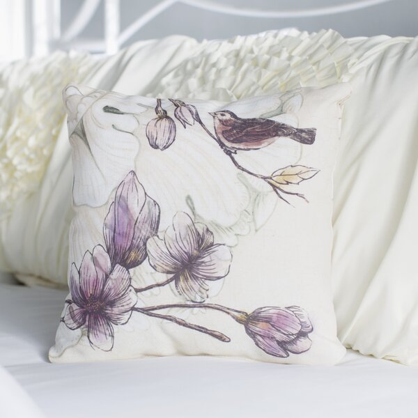 Phalangère Printed Throw Pillow by Lark Manor