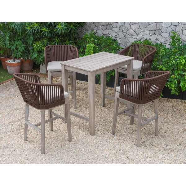 Tyringham 5 Piece Bar Height Dining Set by Bungalow Rose Bungalow Rose