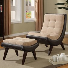 Mountain Home Lounge Chair and Ottoman by Mercury Row