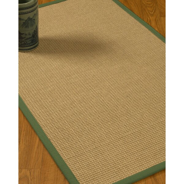 Jacobs Border Hand-Woven Beige/Green Area Rug by Bloomsbury Market