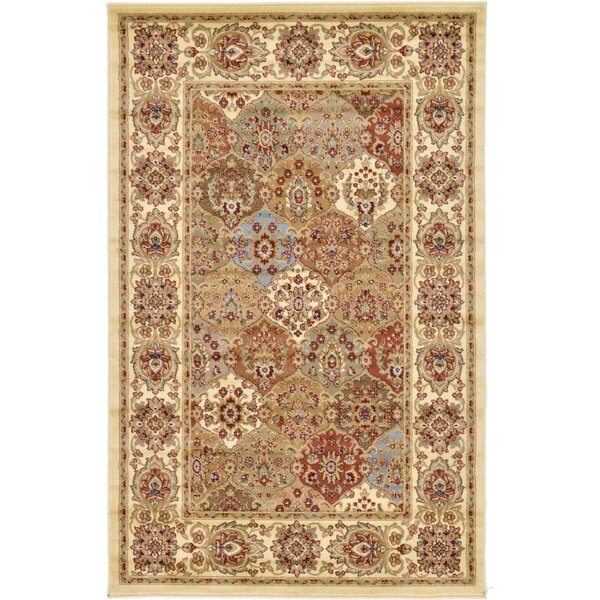 Janiyah Cream Area Rug by World Menagerie