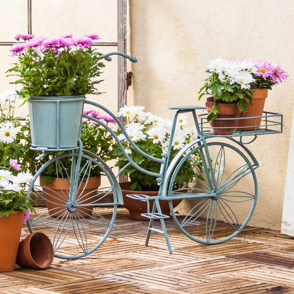 Metal Bicycle Planter by Evergreen Enterprises, Inc