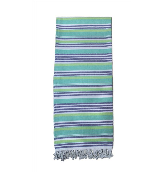 Striped Turkish Cotton Blend Bath Towel by Highland Dunes