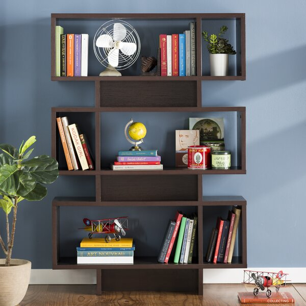 Zeigler Geometric Bookcase By Ebern Designs