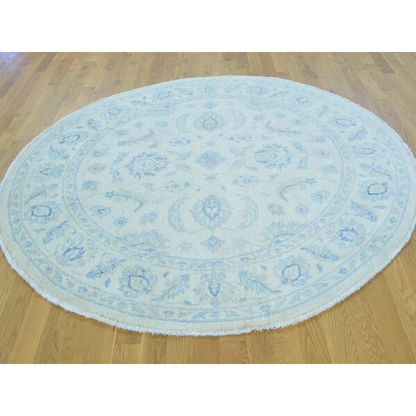 One-of-a-Kind Bearer Zeigler Mahal Hand-Knotted Ivory Wool Area Rug by Isabelline