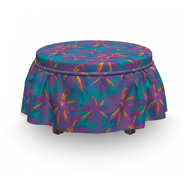 Vibrant Summer Party Trees Art Ottoman Slipcover (Set Of 2) By East Urban Home