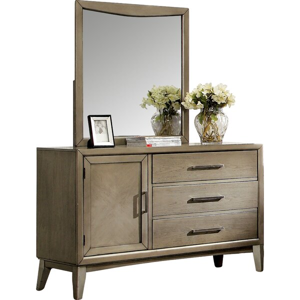 Adriane 3 Drawer Combo Dresser with Mirror by Latitude Run