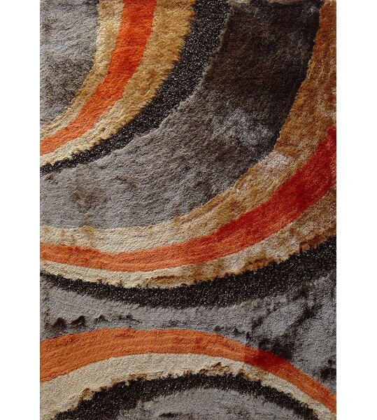 Straley Hand-Woven Brown/Orange Area Rug by Orren Ellis